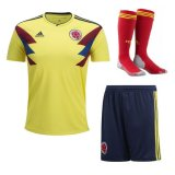 2018 Colombia Home Full Kit soccer Jersey