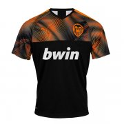19/20 Valencia Away Black Soccer Jersey
