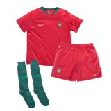 2018 Portugal Home Kid Full Kit World Cup Jersey