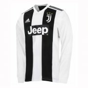 1819 Juventus Home Long Sleeve Soccer Jersey Shirt
