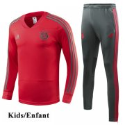 Kids Bayern Munich Red V-Neck Tracksuit 1819