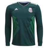 Mexico Home Long Sleeve Socce Jersey 2018