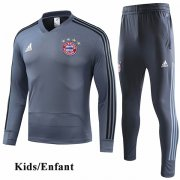 Kids Bayern Munich Gray V-Neck Tracksuit 1819