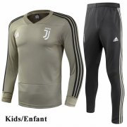 Kids Juventus Brown V-Neck Tracksuit 1819