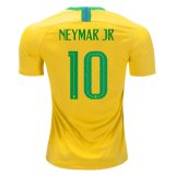 2018 World Cup Brazil Home Jersey Flock NEYMAR JR 10#