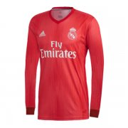 1819 Real Madrid Third Red Long Sleeve Soccer Jersey