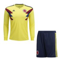 2018 Colombia Home Long sleeve Kit soccer Jersey