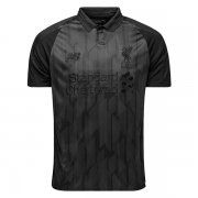 1819 Liverpool Blackout All Black Soccer Jersey Shirt
