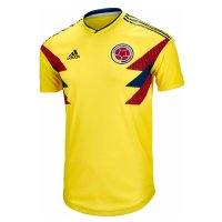 2018 Colombia Home World Cup Authentic Jersey (Player Version)