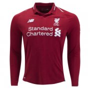 1819 Liverpool Long Sleeve Home Soccer Jersey Shirt