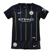 1819 Manchester City Away Soccer Jersey Children Kit