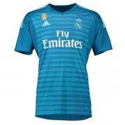 1819 Real Madrid Away Blue Goalkeeper Shirt