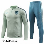 Kids Atletico Madrid Green Tracksuit 1819