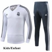 Kids Real Madrid White V-Neck Tracksuit 1819