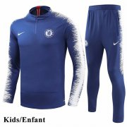 Kids Chelsea Blue Sleeve And Pant Print Tracksuit 1819
