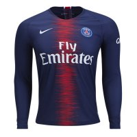 1819 PSG Home Long Sleeve Soccer Jersey