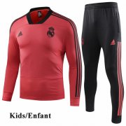 Kids Real Madrid Orange V-Neck Tracksuit 1819
