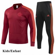 Kids CR Flamengo Red Tracksuit 1819