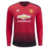 1819 Manchester United Home Long Sleeve Soccer Jersey
