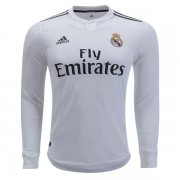 1819 Real Madrid Home Long Sleeve Soccer Jersey