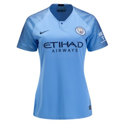 1819 Manchester City Home Women Soccer Jersey