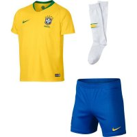 2018 Brazil Home Kid full kit World Cup jersey
