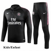 Kids PSG Black Tracksuit 1819