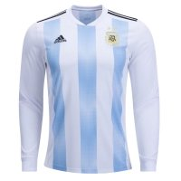 Argentina Home Long Sleeve Soccer Jersey 2018