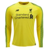 1819 Liverpool Home Long Sleeve Yellow Goalkeeper Soccer Jersey