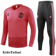 Kids Manchester United Red Tracksuit 1819