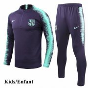 Kids Barcelona Navy Sleeve and Pant Print Tracksuit 1819