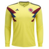 2018 Colombia Home Long Sleeve Soccer Jersey Shirt