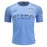 1819 Manchester City Home Authentic Jersey (Player Version)
